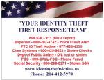 ID Theft First Response Magnet